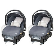 Baby Trend Ally Adjustable 35 Pound Baby Car Seat with Base, Gray (2 Pack)