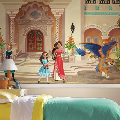 Disney Princess Elena of Avalor XL Chair Rail Prepasted Mural 6' x 10.5' - Ultra-strippable
