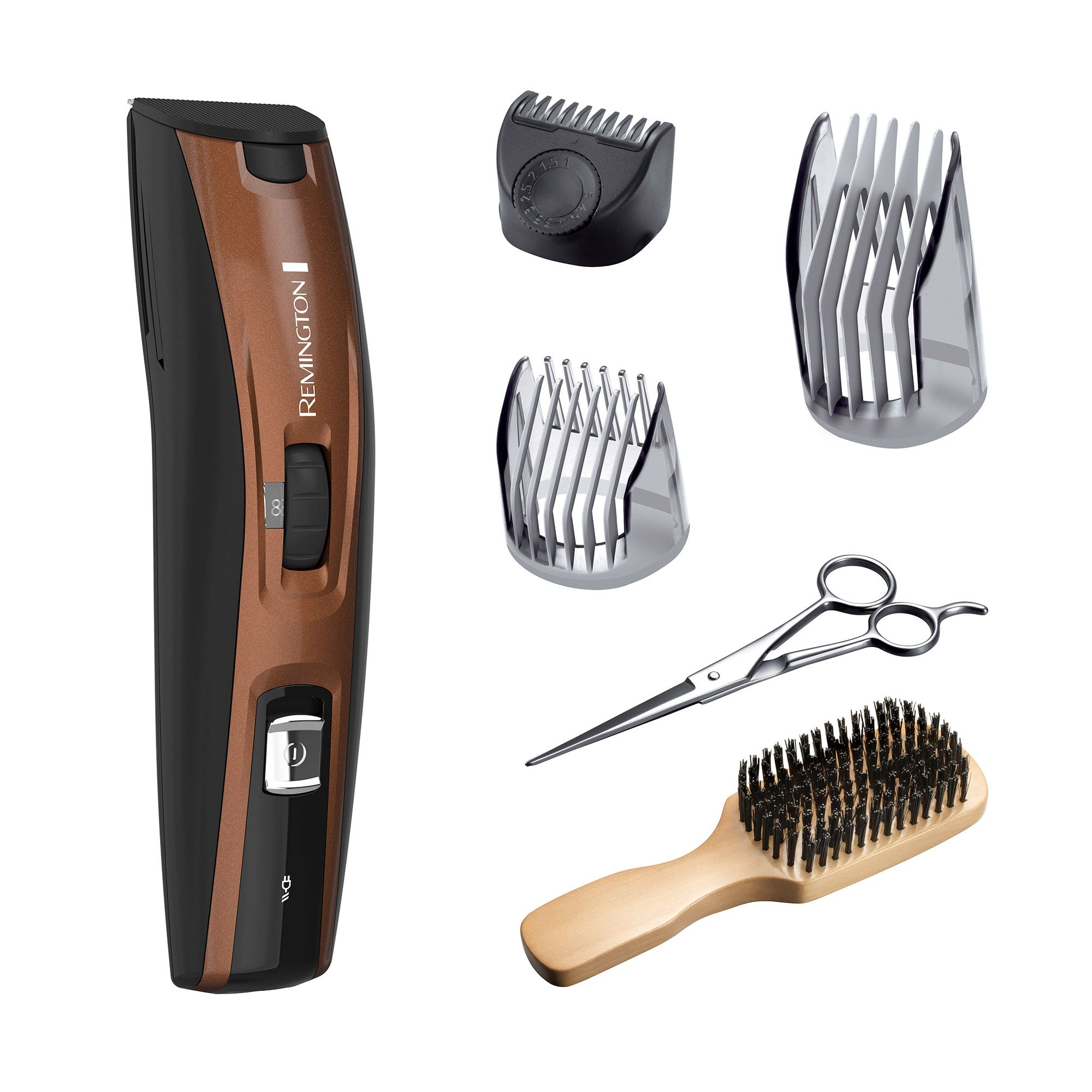 Remington The Beardsman Beard Boss Full Beard Kit with Titanium-Coated Blades, Copper Edition, MB4045A