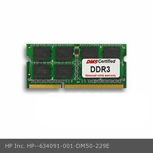 HP Inc. 634091-001 equivalent 8GB eRAM Memory 204 Pin DDR3-1333 PC3-10600 1024x64 CL9 1.5V SODIMM - DMS