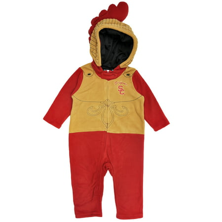 USC Trojans Mascot Costume Baby and Toddlers Hooded Pajama Romper