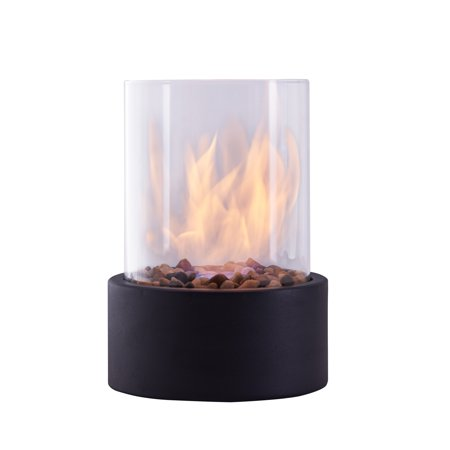 Danya B. Indoor / Outdoor Portable Tabletop Fire Pit – Clean-Burning Bio Ethanol Ventless Fireplace - -