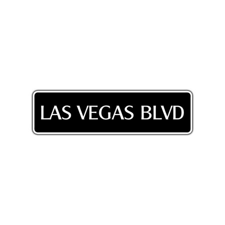 Las Vegas Blvd Hotels - Las Vegas Blvd Street Sign Casinos Entertainment Shows Musicals Bars Party Gift 4x13.5