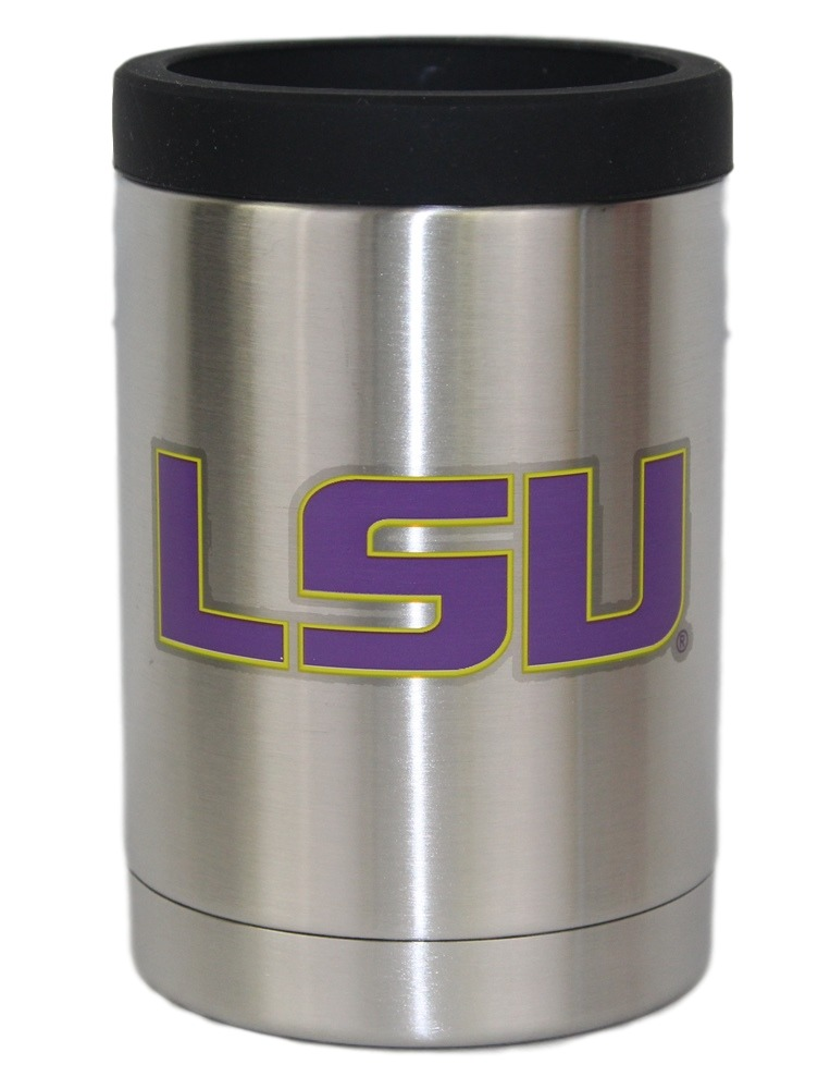 LSU Tigers NCAA Stainless Steel Insulated 12oz Jacket with Seal by Gametime Sidekicks