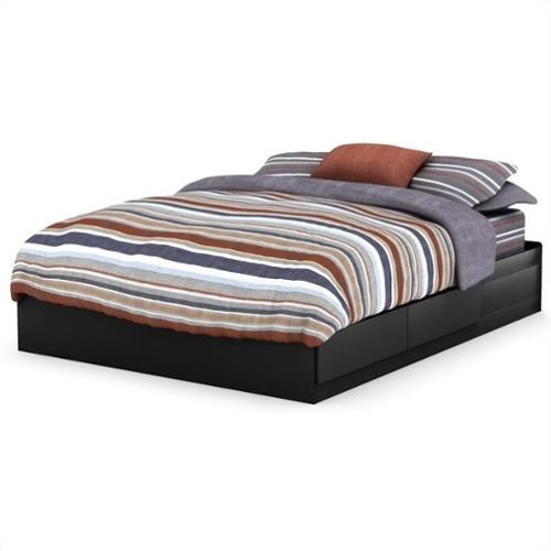 South Shore Breakwater Queen Mates Bed in Black
