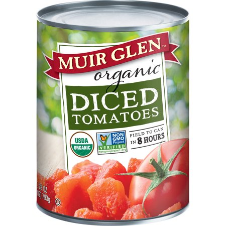Organic Diced Tomatoes - Muir Glen Organic, Gluten Free Diced Tomatoes, 28 oz Can