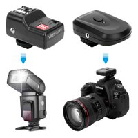 Anauto 433MHZ Wireless Flash Trigger Set with 1 Transmitter 2 Receivers 1 Sync Wire Cable, Sync Wire Cable