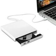 External DVD Drive, TSV USB 2.0 Transmission Slim Portable External DVD CD +/-RW Writer/Burner/Rewriter ROM Drive Perfect for Mac OS/Win7/Win8/Win10/Vista PC Desktop lapto p