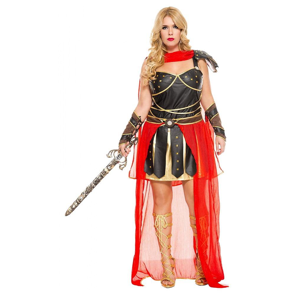 Dark Greek Warrior Adult Costume - Plus Size 1X/2X