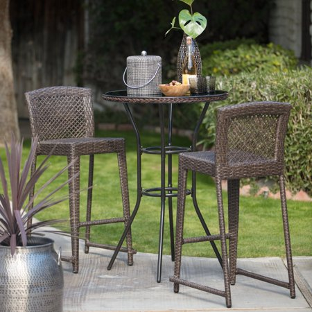 Coral Coast Brisbane Patio Dining Bar Height Bistro Set ()