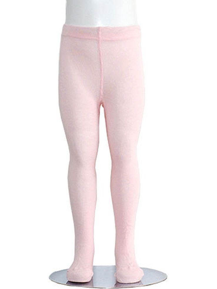 Light Pink Piccolo Heavyweight Opaque Toddler Little Girls Tights 2T-16