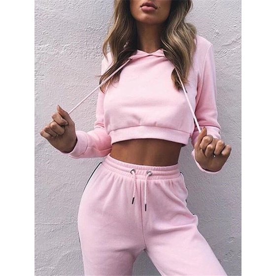26da5aff7b949 Women's Long Sleeve Tracksuits for Women, Casual Two-Piece Sportswear  Hoodie Sweatshirt for Women, Pink / Wine Red Tops with Sweatpants Gift for  Ladies, ...
