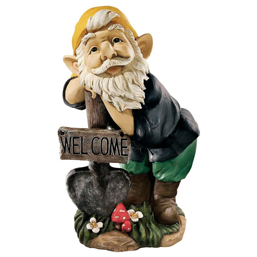 Black Forest Welcoming Gnome Sculpture by Design Toscano