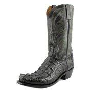 Lucchese Western Boots Mens Landon Hornback Caiman Square Black M2690