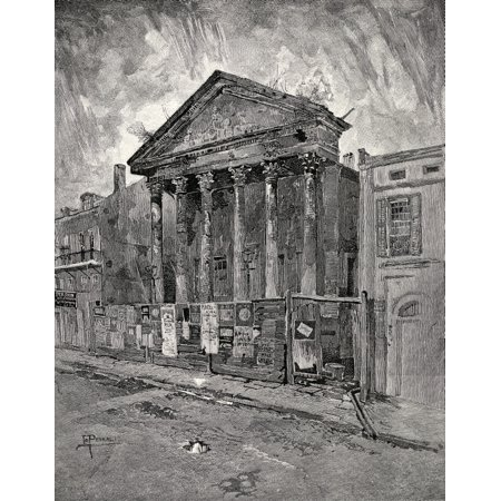 The Old Bank In Toulouse Street New Orleans United States Of America From The Book The Century Illustrated Monthly Magazine May To October 1883 Canvas Art   Ken Welsh  Design Pics  26 X 32