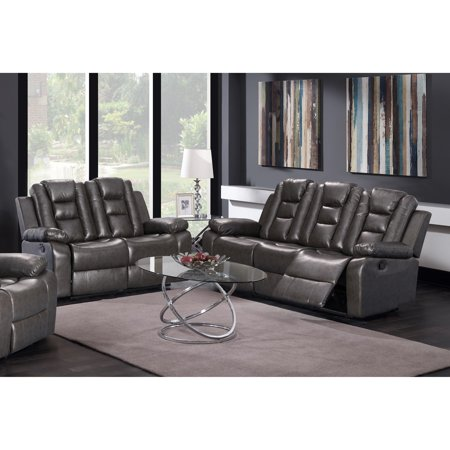 GTU Furniture Modern Contemporary Sleek, Lever, Faux Leather ...