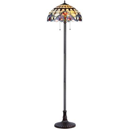 Chloe-Lighting-Cooper-Tiffany-Style-2-Light-Victorian-Floor-Lamp-with-18-Shade