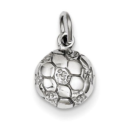 14k White Gold Soccer Ball Charm (14k White Gold Soccer Ball)