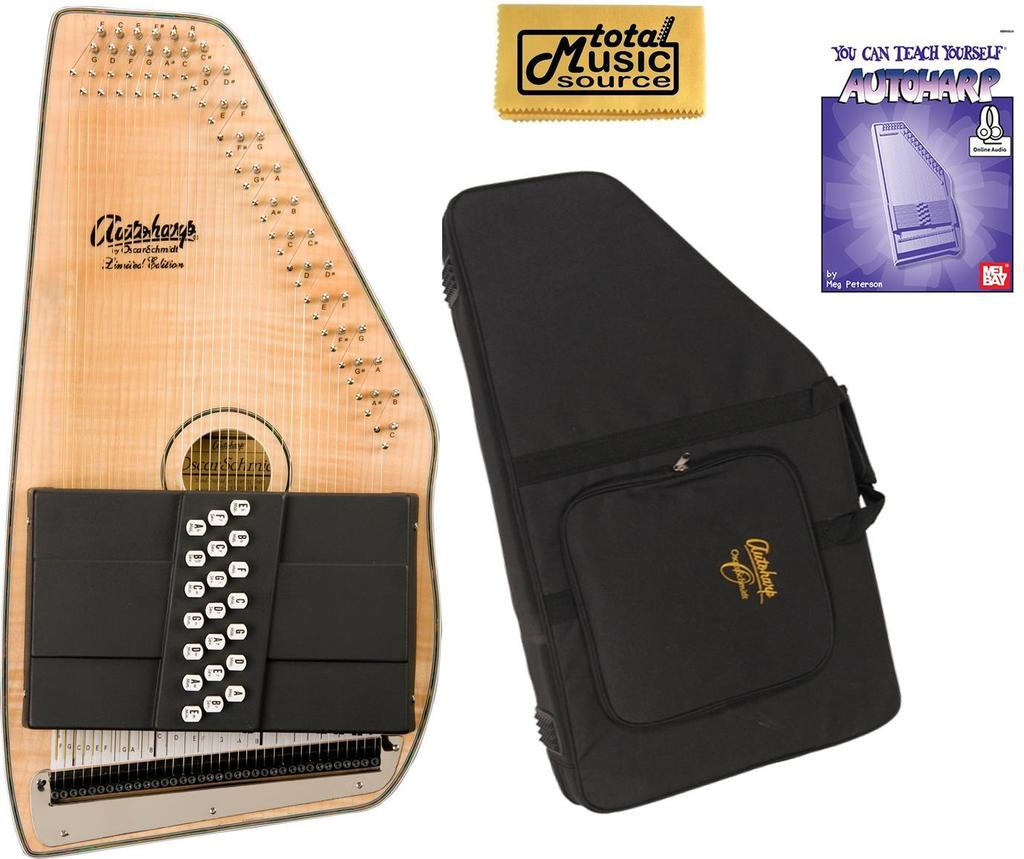 Oscar Schmidt 21 Chord Autoharp, Flame Maple Top, Natural Finish, OS11021FN W Soft Case,... by Oscar Schmidt