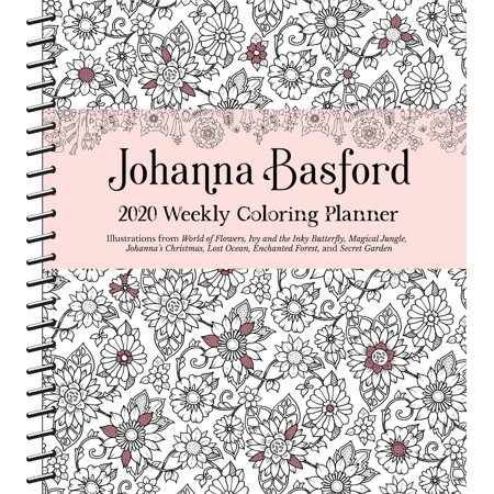 Johanna Basford 2020 Weekly Coloring Planner Calendar (Other) (Weekly Planning Calendar)