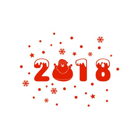 Happy New Year 2018 Merry Christmas Wall Sticker Home Shop Windows Decals Decor