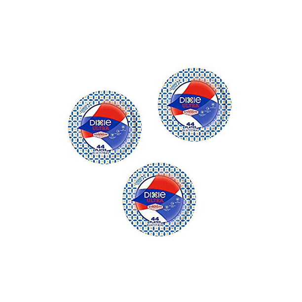 Dixie Ultra Heavy Duty Disposable Appetizer And Dessert Paper Plates Small Plate 6 7 8 44 Ct Pack Of 3 Walmart Com Walmart Com
