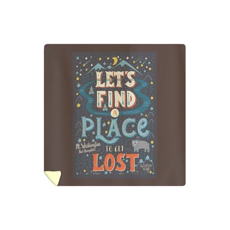 Mount Washington, New Hampshire - Lets Find a Place to Get Lost - Lantern Press Artwork (88x88 Queen Microfiber Duvet (Best Place To Get Bedding)