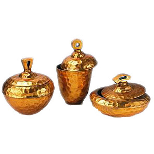 OK Lighting Golden Trinket Box Set
