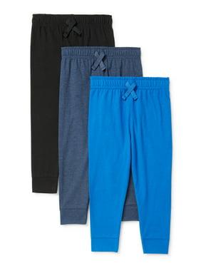 Garanimals Baby Boy Pants & Toddler Boy Essential Knit Joggers Pants, 3-pack (12M-5T)