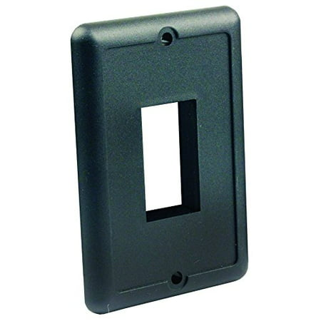 JR Products 14045 Black Single Switch Plate