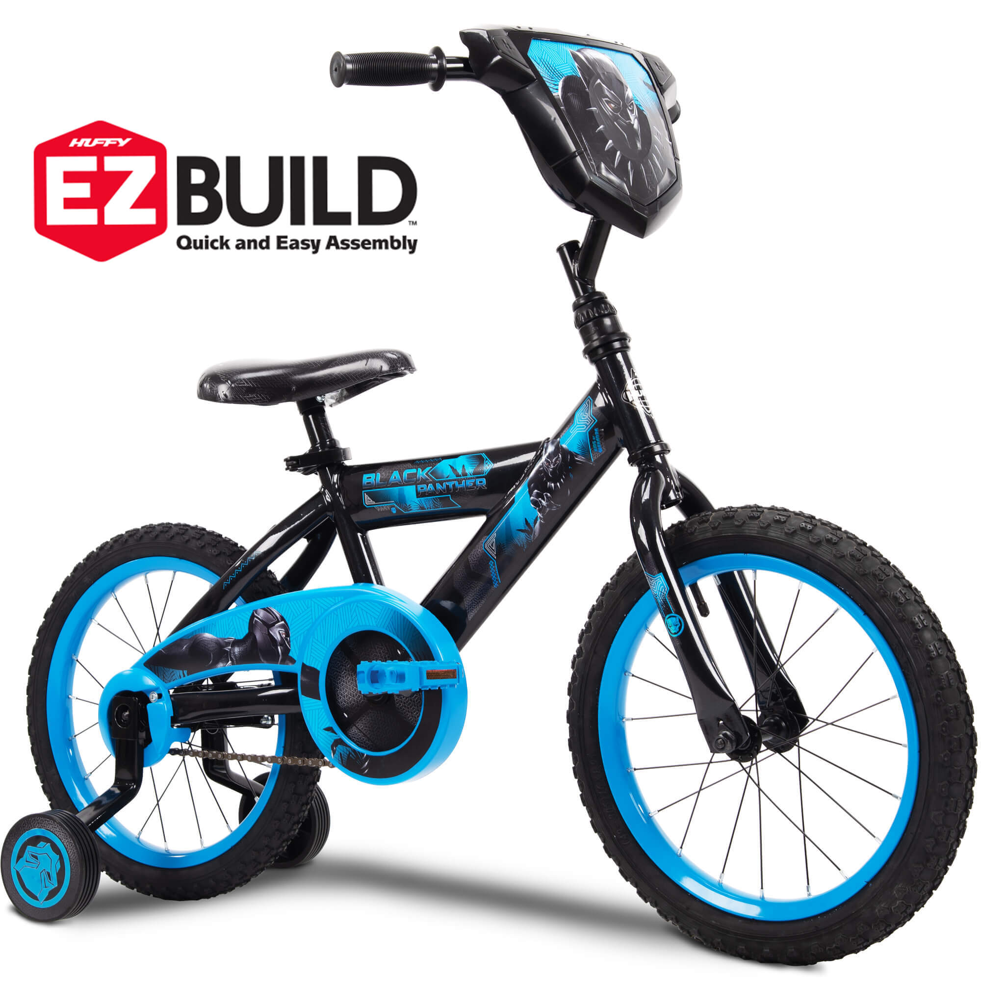 "Marvel Black Panther 16"" Boys' Single-Speed EZ Build Bike by Huffy"
