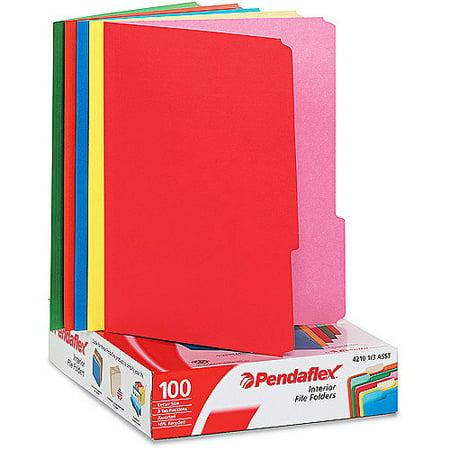 Pendaflex Interior File Folders Top Tab 100 Box