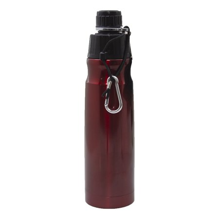 Double Wall Rod (Good Life Gear SF6019 16oz BPA Free Double Wall Vacuum Insulated Water Bottle - Metallic Red )