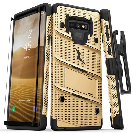 Zizo BOLT Series Galaxy Note 9 Case with Holster, Lanyard, Military Grade Drop Tested and Tempered Glass Screen Protector for Samsung Galaxy Note 9 Cover