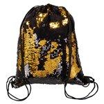 Sequin Drawstring Backpack - Black