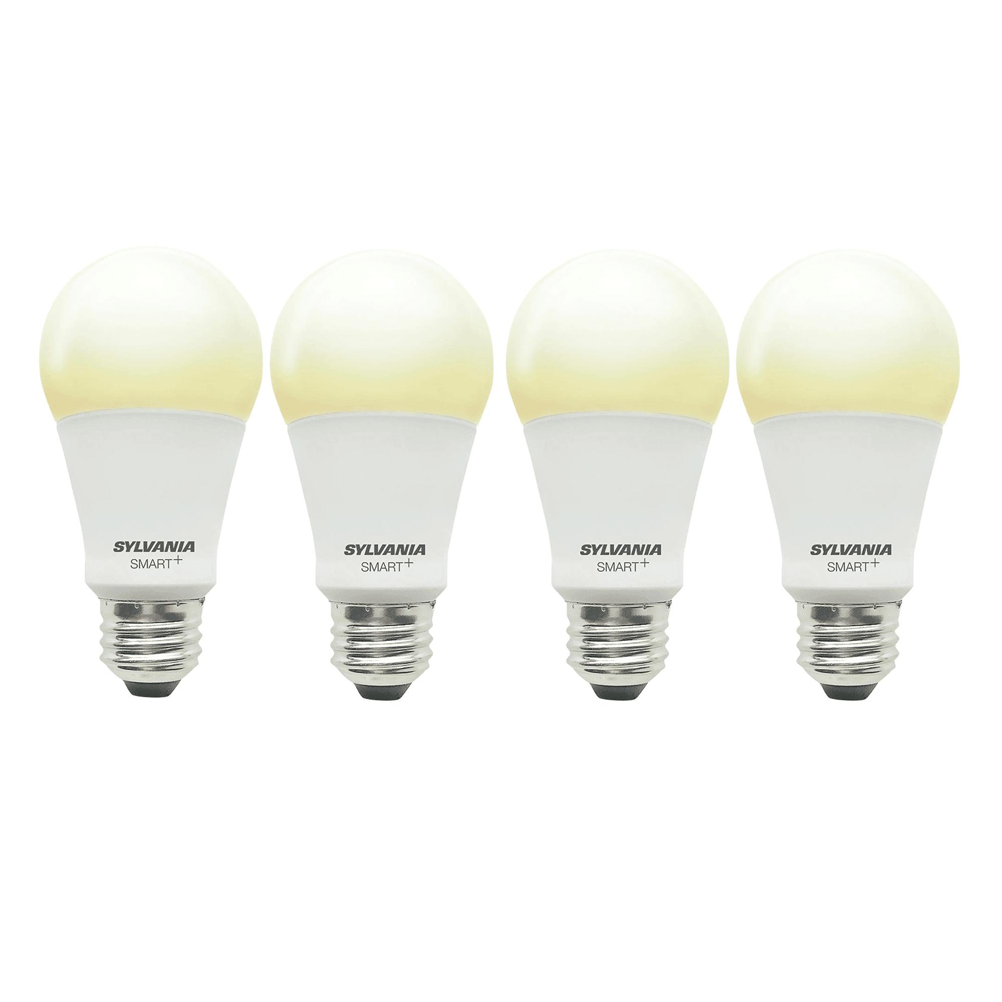 Sylvania Smart+ Bluetooth Soft White A19 LED Light Bulb w/ Apple & Siri (4 Pack)