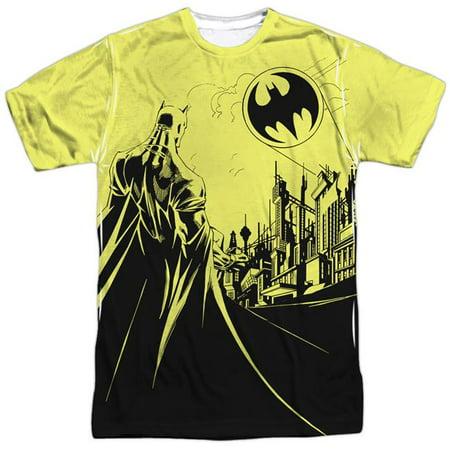 Batman Bat Signal Mens Sublimation Shirt - Batman Items For Adults