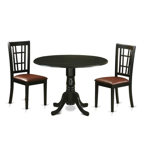 August Grove Spruill 3 Piece Extendable Dining Set