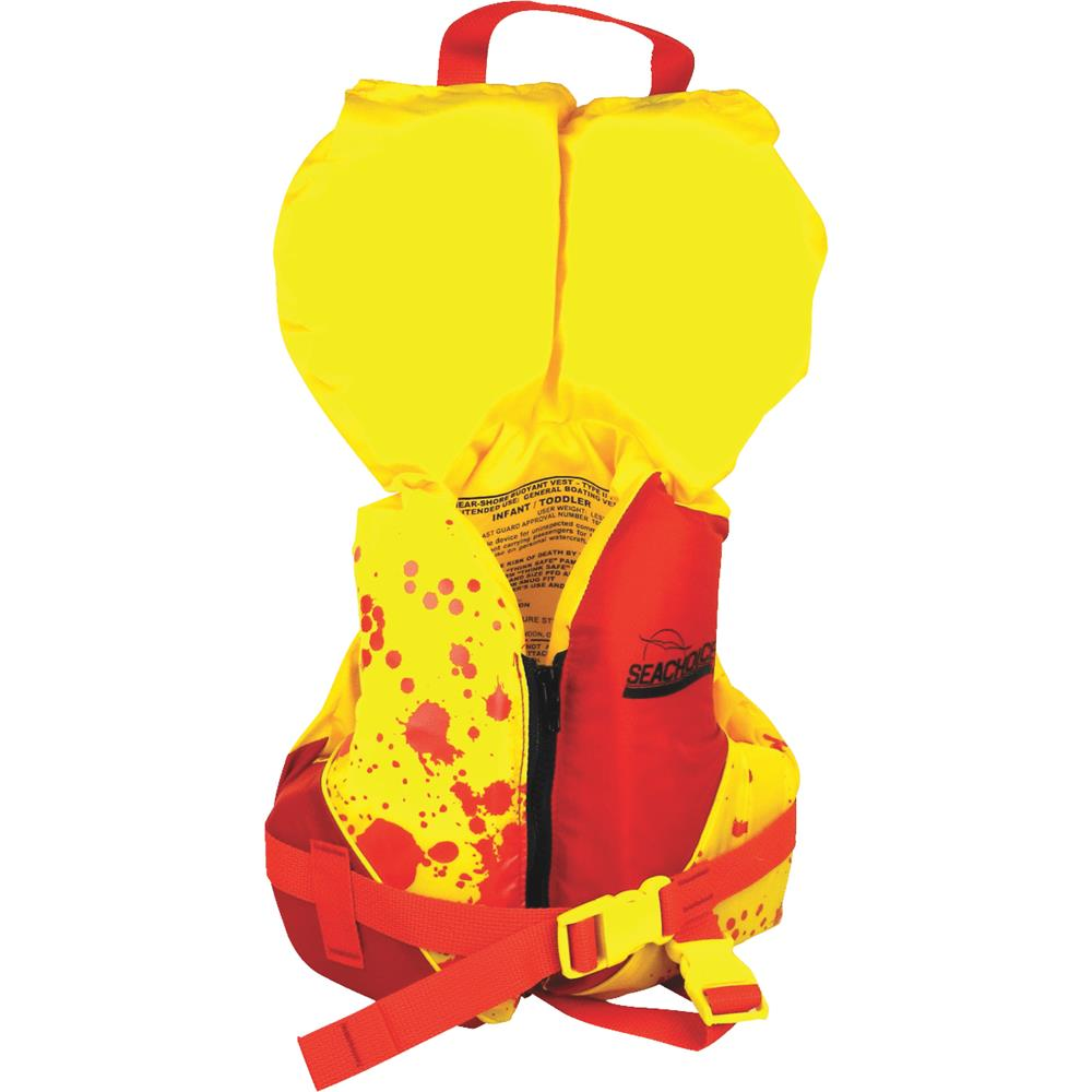 Seachoice Deluxe Child's Type II Red/Yellow Life Vest with Pop-Up Pillow