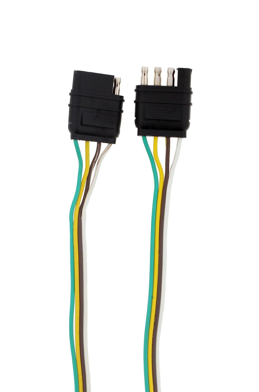 ABN 1909 - 4 Way 4 Pin Plug 20 Gauge Trailer Light Wiring Harness Extension  8ft - Walmart.com