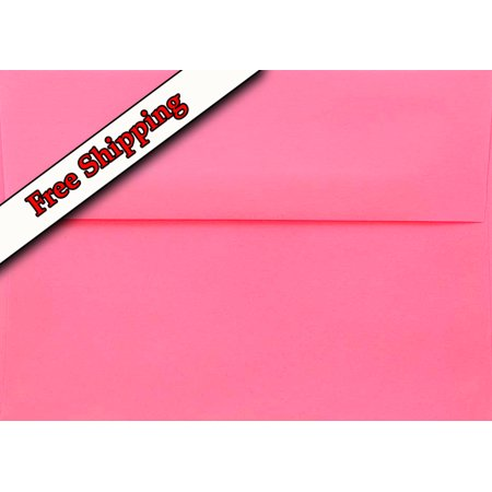 Shipped Free 25 Boxed Hot Pink A2 (4-3/8 X 5-3/4) Envelopes for 4-1/8 X 5-1/2 Response Enclosure Invitation Announcement Wedding Shower Communion Christening Cards By - Wedding Envelope Box