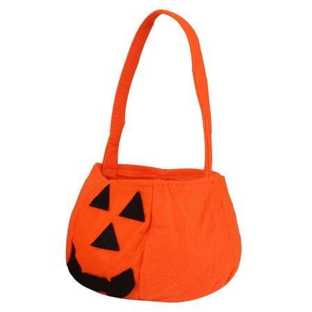 10pcs Halloween Pumpkin Bag Non Woven Handbag for Halloween Party Decoration - Halloween Party Bag
