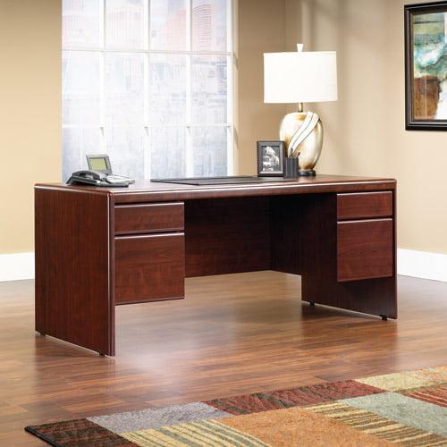 Sauder Cornerstone Executive Desk, Classic Cherry Finish