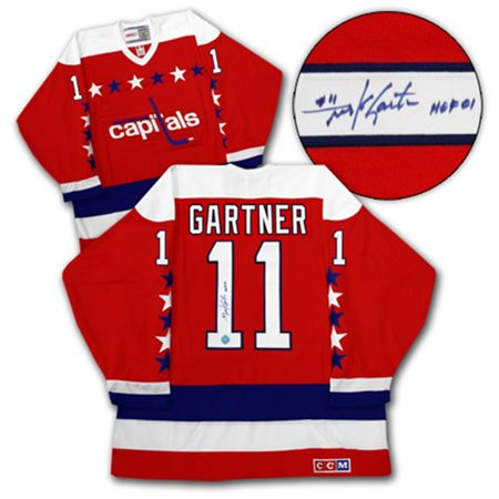AJ Sports World GARM127000 MIKE GARTNER Washington Capitals SIGNED Retro Hockey Jersey by