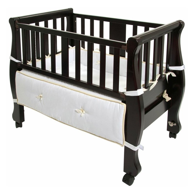 Arms Reach Sleigh Bed Co-Sleeper Bassinet- Espresso by Arm's Reach