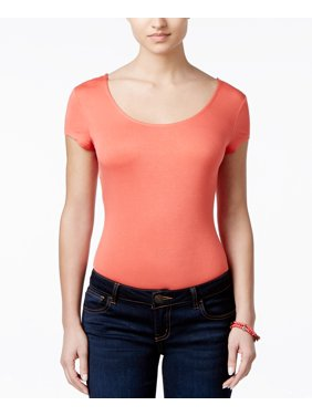 f5f745370d Product Image Ultra Flirt NEW Pink Sea Coral Size Small S Junior Scoop Neck  Knit Top 246