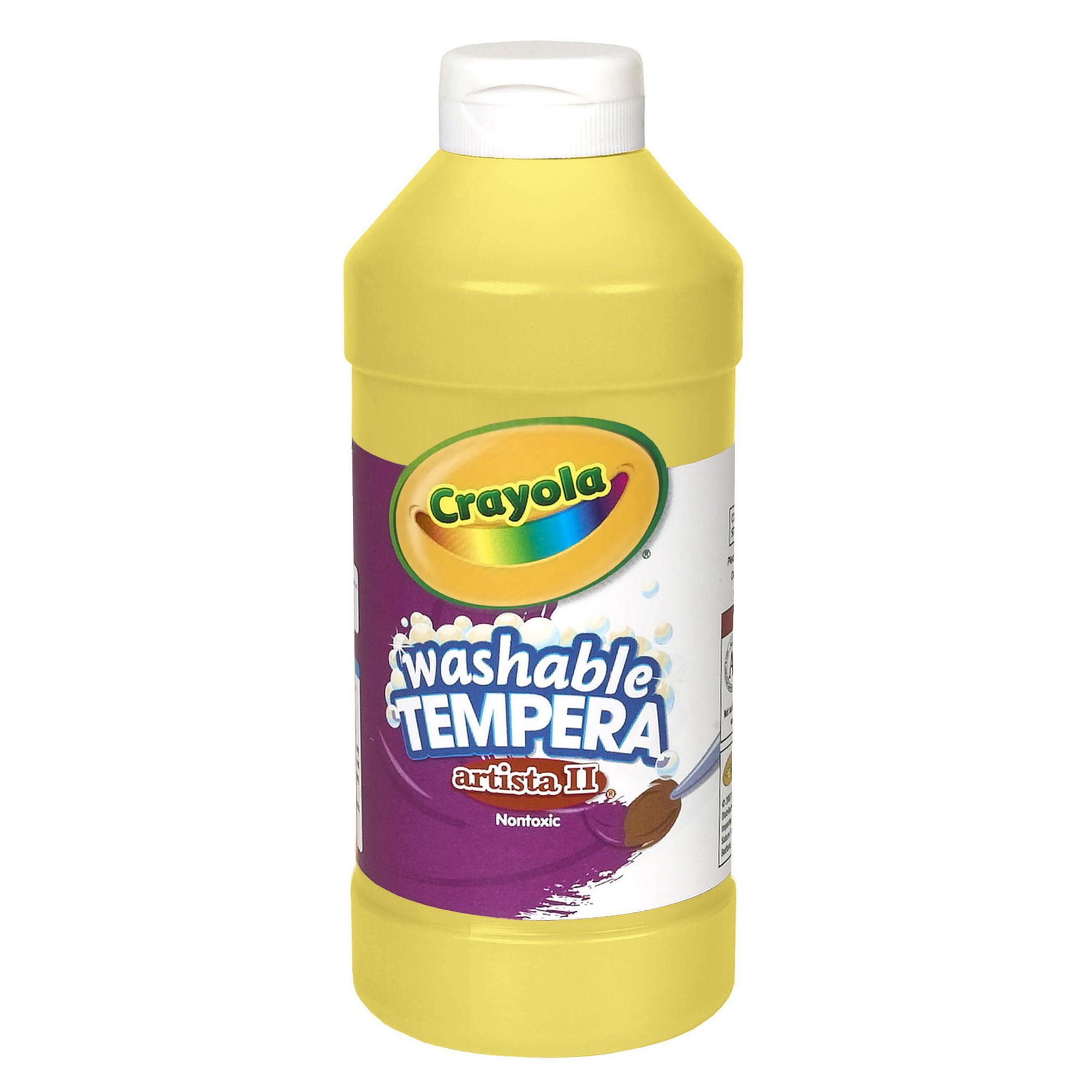 Crayola Artista Ii Washable Liquid Tempera Paint, Yellow, 16 Oz Bottle, Set Of 6 Bottles