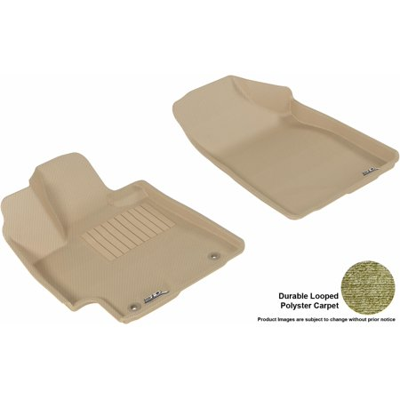 Gas Tin (3D MAXpider 2008-2013 Toyota Highlander Gas Front Row All Weather Floor Liners in Tan Carpet )