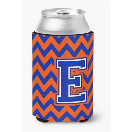 Letter E Chevron Orange & Blue Can or Bottle Hugger, 0.25 x 4 x 5.5 in. - image 1 de 1