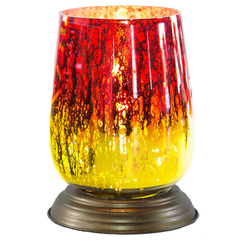 Glass Memory Lamp Medium 0 Red Bordeaux Glass Engraving Sold Separately by OneWorld Memorials